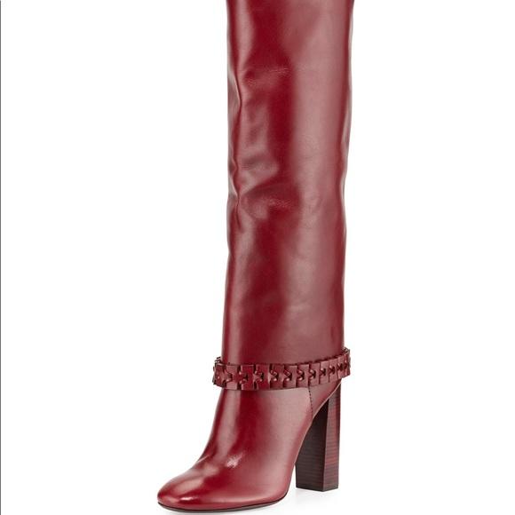 3ff70684b807e Tory Burch Sarava Red Agate Boots. M 5b50f007fb38032e3f9cc150